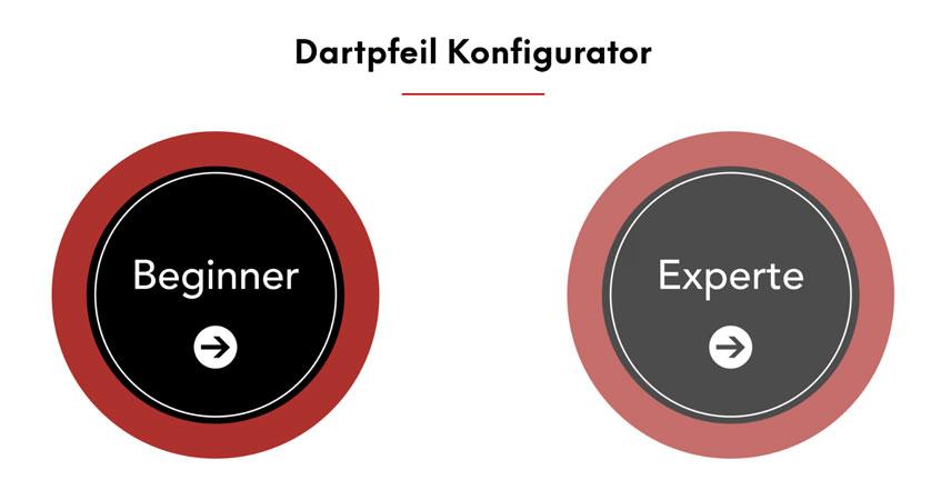 Dartpfeile Konfigurator Modus