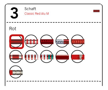 Dartpfeile Konfigurator Schaft